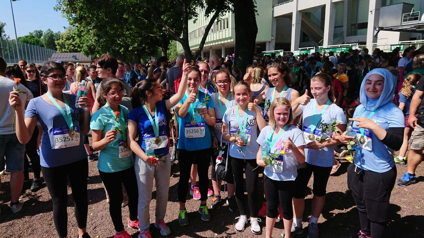 Teilnahme am Frauenlauf