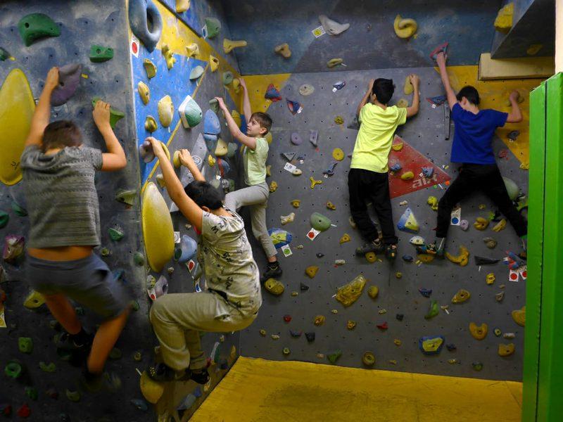 Exkursion zur Boulderhalle