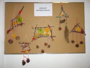 Weben mit Naturmaterialien